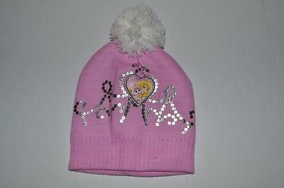 Disney Aurora Sleeping Beauty Princess Pink Beanie Cap Hat Girls One Size