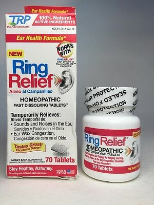 2x TRP Ring Relief Homeopathic EAR ~100% Natural Ingredients~ 70 Fast Tablets