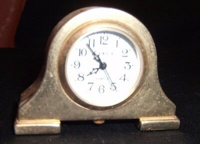 Stainless Steel Circa Quartz Clock approx 2 to 3 inches
