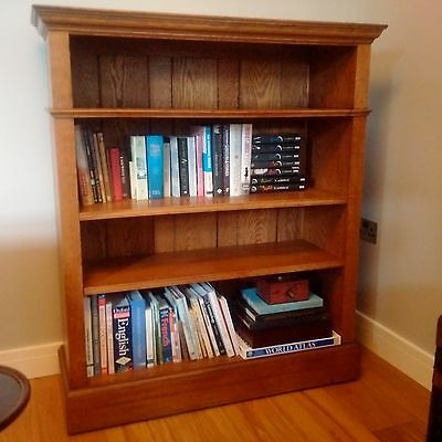 Antique Victorian open Bookcase with adjustable shelves