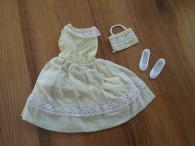 Vintage Tressy Sister Cricket Doll #14203 HAPPY BIRTHDAY Dress Purse Shoes,Toots