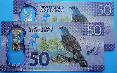 New Zealand ** 2016  **  $50  Unc  New Issue, New Design Brighter Banknote !