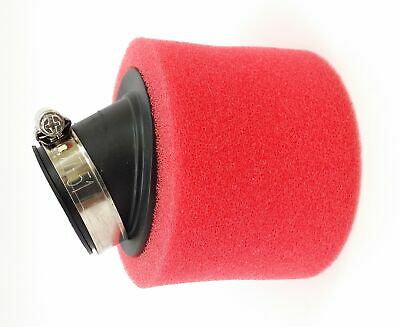 Air Filter 42 mm Red Angled Foam Filter For GY6 Scooter Moped ATV