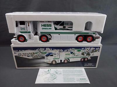 2006 Hess Toy Truck & Helicopter Transporter Vehicle Near Mint In Box