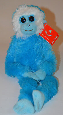 """19"""" Blue Colorful Hanging Chimp Soft Toy - Aurora 19"""" Childs Cuddly Monkey NEW 9"""