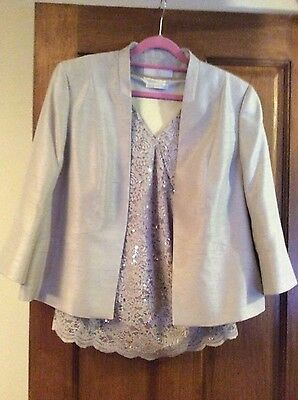 Jacques Vert Ladies occasion outfit size 18 Jacket, Top and Trousers