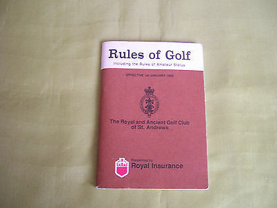 1988 St Andrews Rules Of Golf Book .