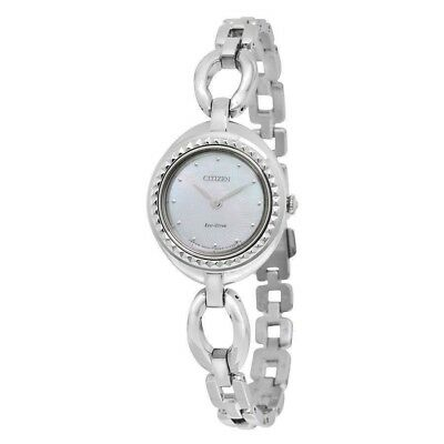 Citizen Eco-Drive Women's Silhouette Silver-Tone 24mm Watch EX1440-61D