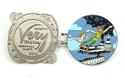 Disney Mickey's Very Merry Christmas Party 2016 Peter Pan & Wendy Pin LE 5300