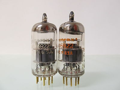2 x Amperex USA  6922 ( E88CC , CCa ) , Goldpins , gray shield