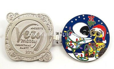 Disney Mickey's Very Merry Christmas Party 2016 Wall E Completer Pin LE 1300