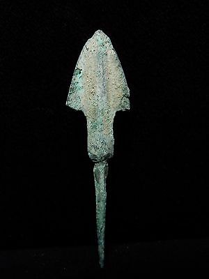 Zurqieh - Al48- Over 3000 Years Old Bronze Long Arrow Head - 1200 B.c
