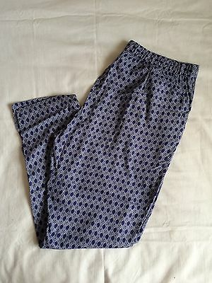 Brand New H&M Blue Patterned Trousers