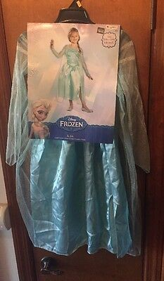 Disney Frozen Elsa Snow Queen Dress Child Halloween Costume Size Small 4-6 NEW