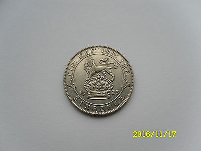 George V Silver Sixpence 1923