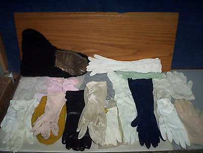20 Vintage Ladies & Girls Dress Gloves & Winter Mittens & Morley Leather Gloves