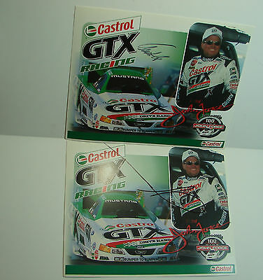 Original Autograph of AUSTIN COIL & JOHN FORCE Crew Chief for John Force Signed