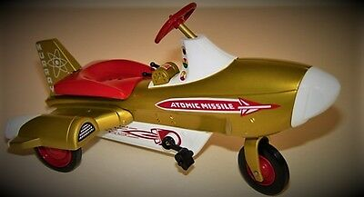 Pedal Car Rare Rocket Plane Jet Age Adventure SpaceShip Metal Midget Show Model