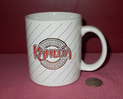 Ceramic KAHLUA MUG CUP White Red with Metallic Gold Accents
