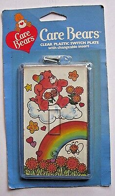 VINTAGE CARE BEARS Friend Bear Light Switch Plate with changeable insert NIP