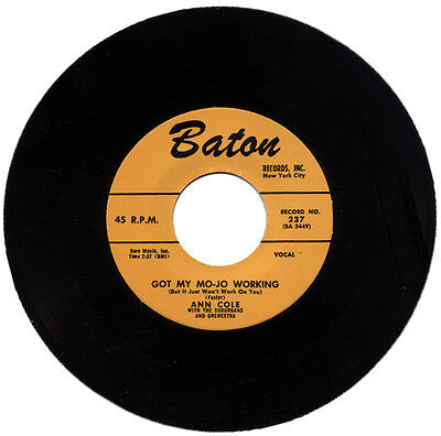 "ANN COLE With The SUBURBANS  ""GOT MY MOJO WORKING c/w I'VE GOT A LITTLE BOY"""