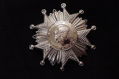 French Legion Of Honor  National Order Medal Grand Officer's Star In Silver