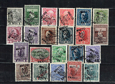 """Ukraine stamps overprint is means """"Town Galich"""" used"""