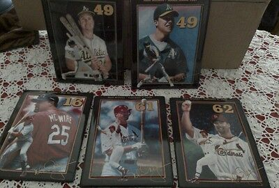 MARK McGWIRE COLLECTOR PLATES SET OF 5 BRADFORD EXCHANGE LIMITED EDITION