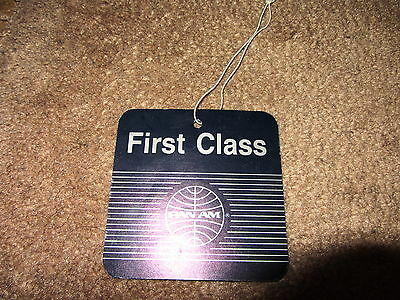 Pan Am First Class Luggage Tag Mint Rare Airline Item
