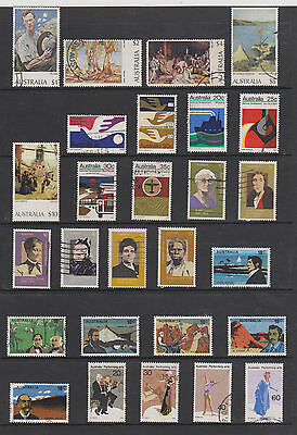 COLLECTION OF 6 SETS USED 70s STAMPS FROM AUSTRALIA , SEE SCAN