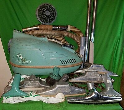 Vintage 24th Anniversary Interstate Compact Vacuum Lots of Attachments working