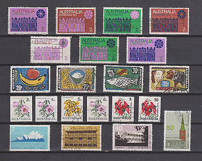 COLLECTION OF 4 SETS USED 70s STAMPS FROM AUSTRALIA , SEE SCAN