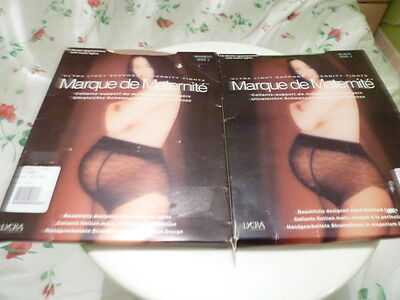 Marque De Maternite x 2 Pairs Of Ultra Light Support Maternity Tights.New.Size 1
