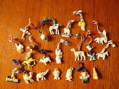 Collection of  circa 1940 vintage and unsual plastic charms