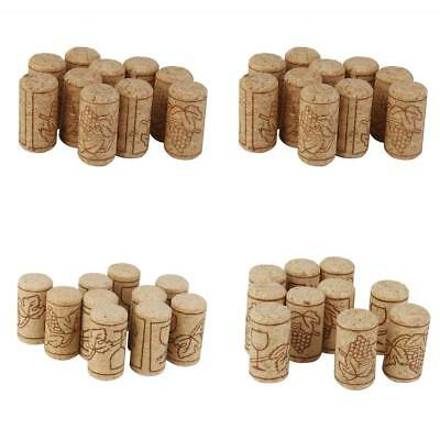 10Pcs Natural Cork Bottle Stoppers Wine Corks Crafts Bottle Toppers Size Choice