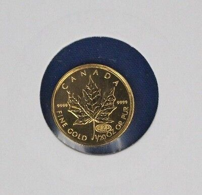 2000 Canada 1/20oz 0.9999 Gold Maple Leaf $1 coin    (X2/4)