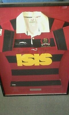 Northern Suburbs Rugby framed and signed jersey
