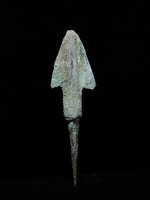 Zurqieh - Al61- Over 3000 Years Old Bronze Long Arrow Head - 1200 B.c