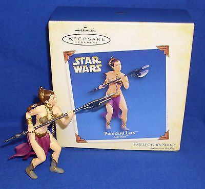 Hallmark Ornament Star Wars #9 2005 Princess Leia Jabba's Slave Carrie Fisher