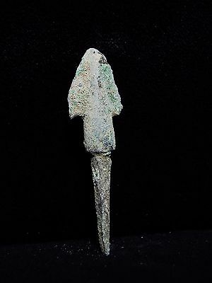 Zurqieh - Al64- Over 3000 Years Old Bronze Long Arrow Head - 1200 B.c