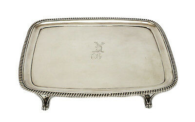 Peter Ann & William Bateman George III Sterling Silver Armorial Footed Tray 1789