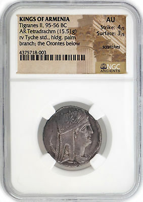 Tigranes II AR Tetradrachm King Of Armenia 95-56 BC NGC AU