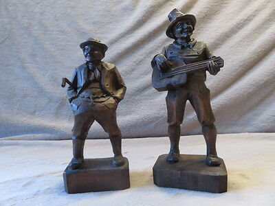 Two Vintage German Hand Carved Men Circa 1960's