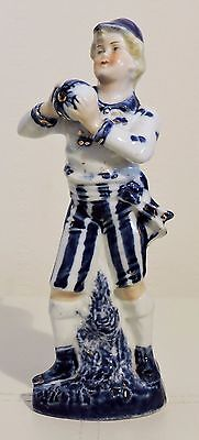 Antique German Porcelain Victorian Goalkeeper Figurine Made In Germany