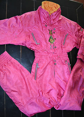 Bogner Ski Suit Pink Southwest Style Insulated P8
