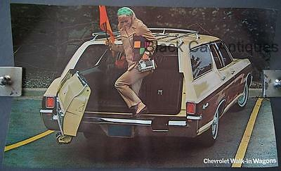 Orig 1970 Chevy Kingswood Wagon Poster, Sell Sheet, Info, Over-sized 17 3/4 X 11