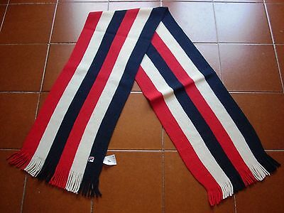 Deadstock Rare Original Fila Ski Winter Snow Wool Scarf 70 80 Italy Vtg New