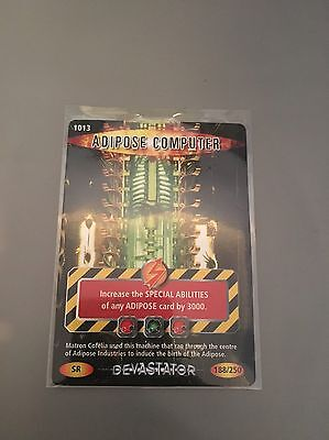 Battles In Time Super Rare - Adipose Computer Card 1013 PLEASE VIEW DESCRIPTION