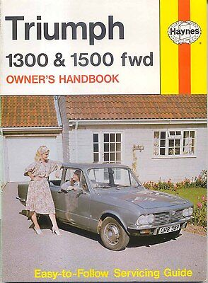 Triumph 1300 & 1500 fwd Owners Handbook & Servicing Guide 1965-1973