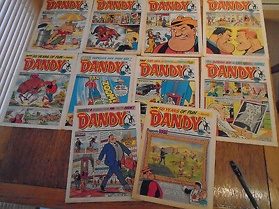 10 Dandy Comics from 1988, see description for numbers